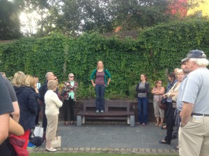 Dr Sparky Booker giving a tour during Heritage Week 2014