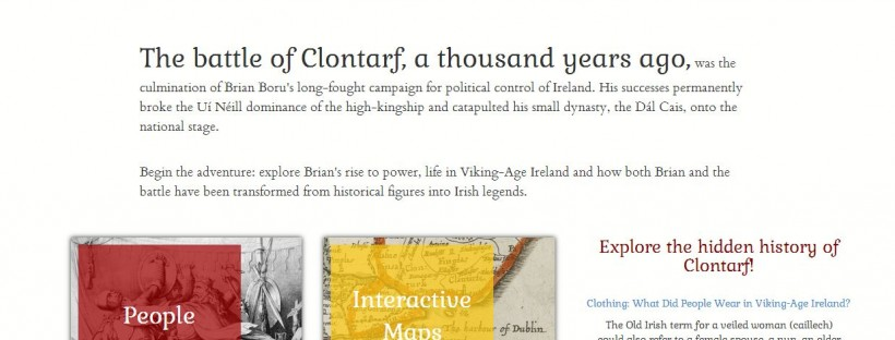 12 April, 2015 – Launch of New Battle of Clontarf Website