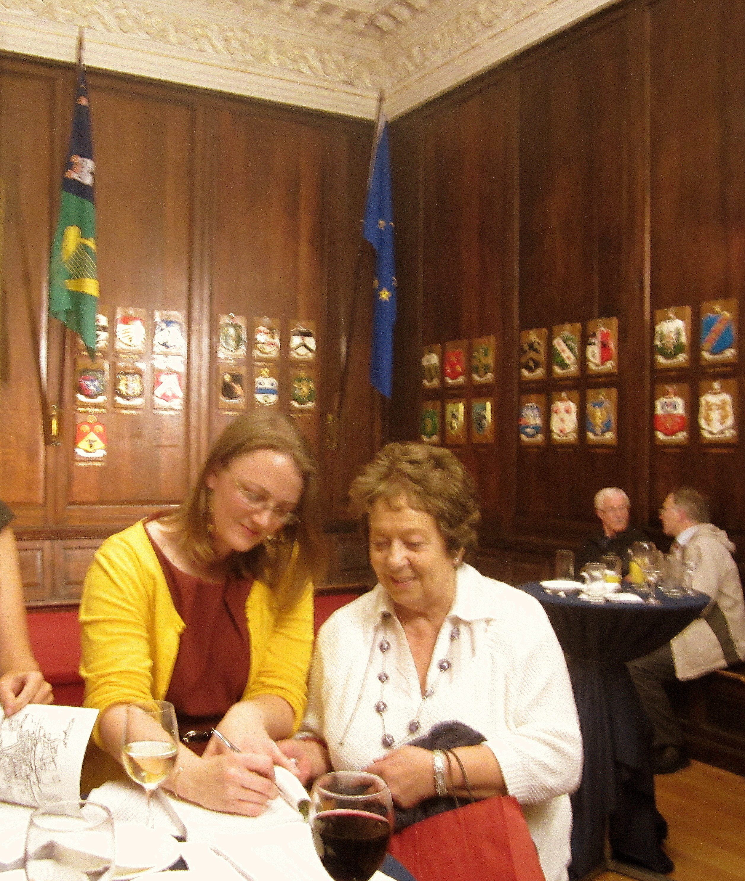 Cherie N. Peters signing autographsEditors Sparky Booker and Cherie N. Peters at the launch of Tales of Medieval Dublin at the Mansion House