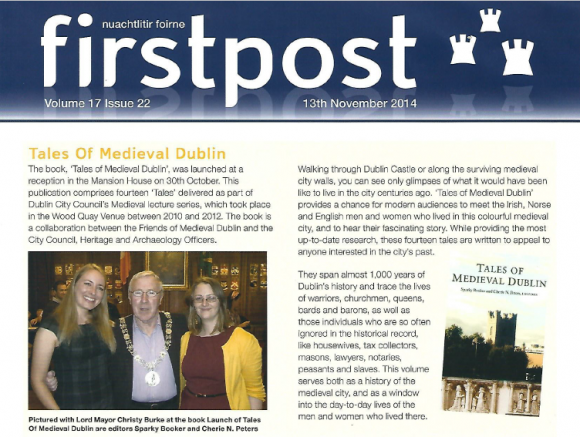 Tales of Medieval Dublin in DCC newsletter