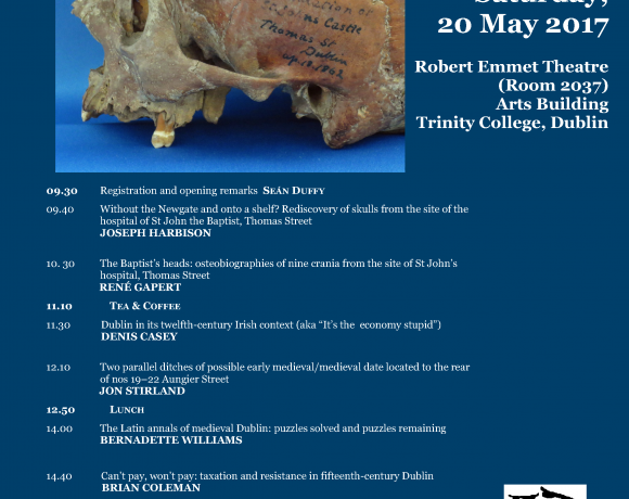 19th Medieval Dublin Symposium (20 May)